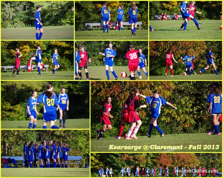Kearsarge middle school girls soccer quot gold quot vs claremont 187 vince from
