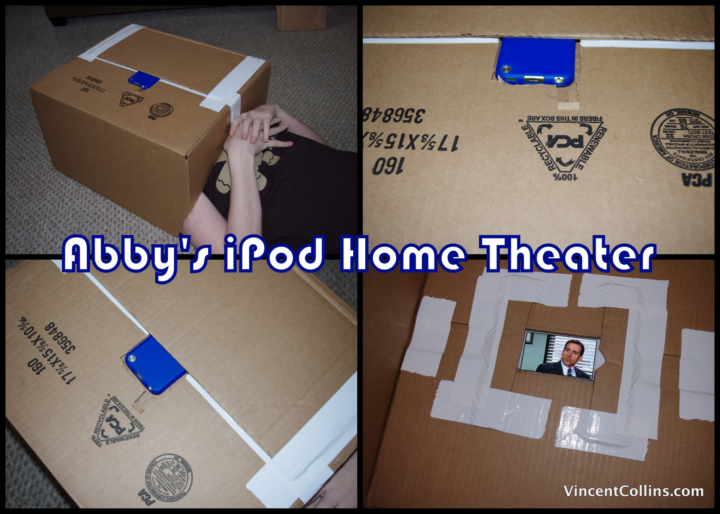 Abby's Cardboard iPod Home Theater